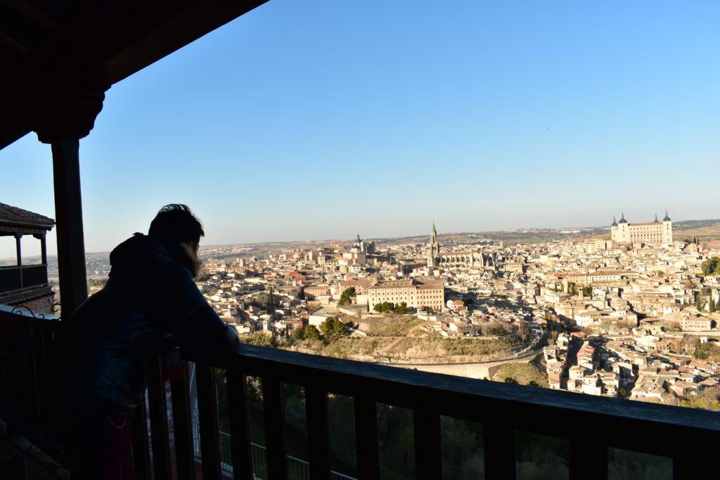 【画像】パラドールホテルのバルコニーからのトレド全景