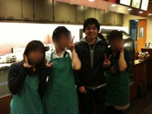 【画像】某カフェチェーンでアルバイトの子たちと若かりし僕