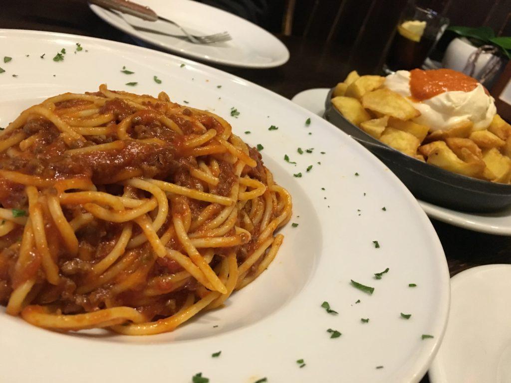 【画像】夕食 パスタとポテト