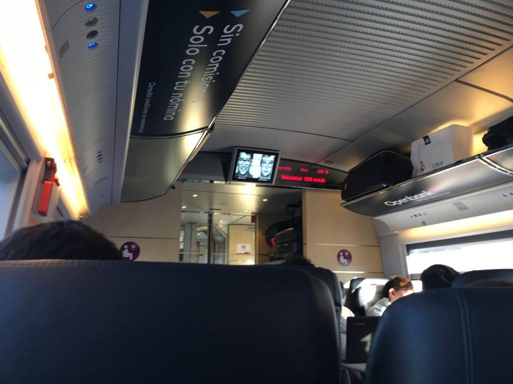 【画像】マドリードからバルセロナへのRenfe(車内)①