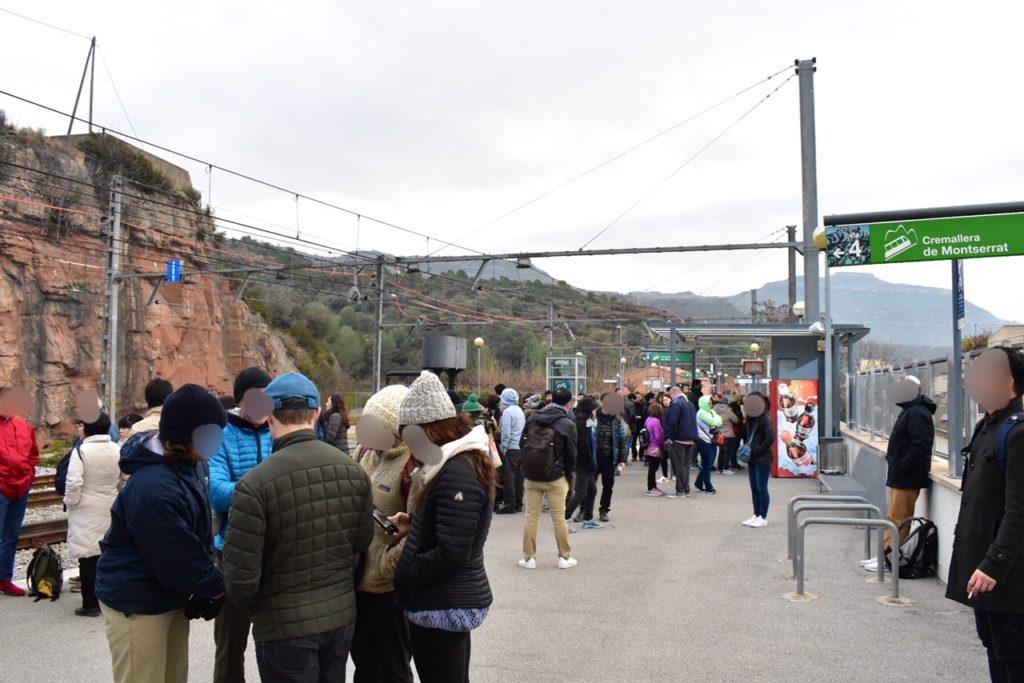 【画像】カタルーニャ登山鉄道のホーム