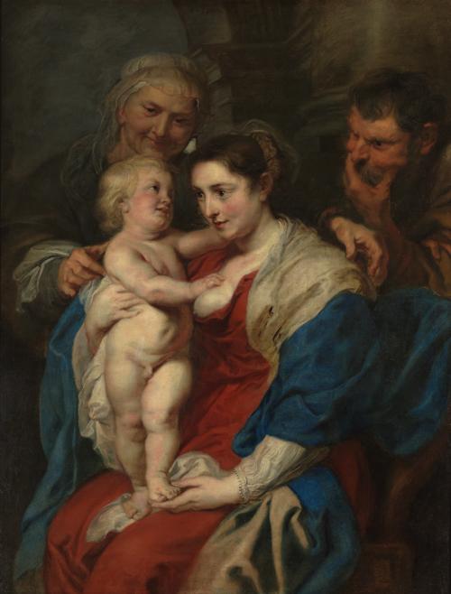 ペーテル・パウル・ルーベンス『聖アンナのいる聖家族 The Holy Family with Saint Anne』