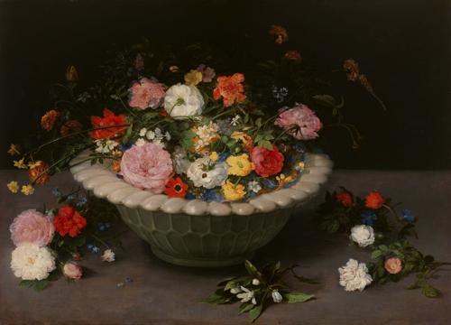 ヤン・ブリューゲル(父)『花卉 Vase of Flowers』