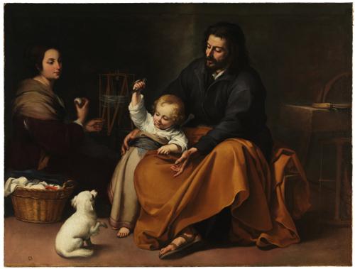 バルトロメ・エステバン・ムリーリョ『小鳥のいる聖家族 The Holy Family with a Little Bird』