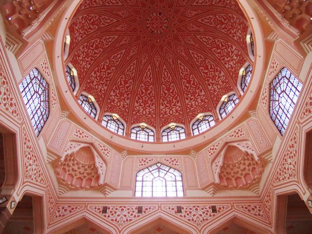 【画像】クアラルンプール ピンク・モスク内部