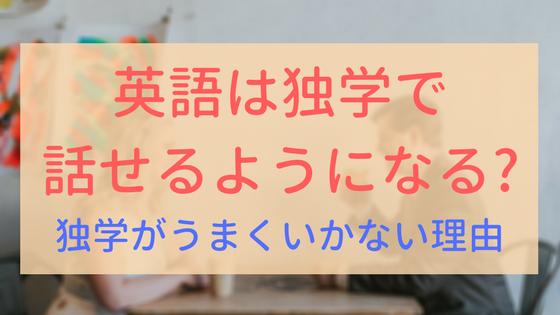 【アイキャッチ画像】英語 独学で話せるようになるか
