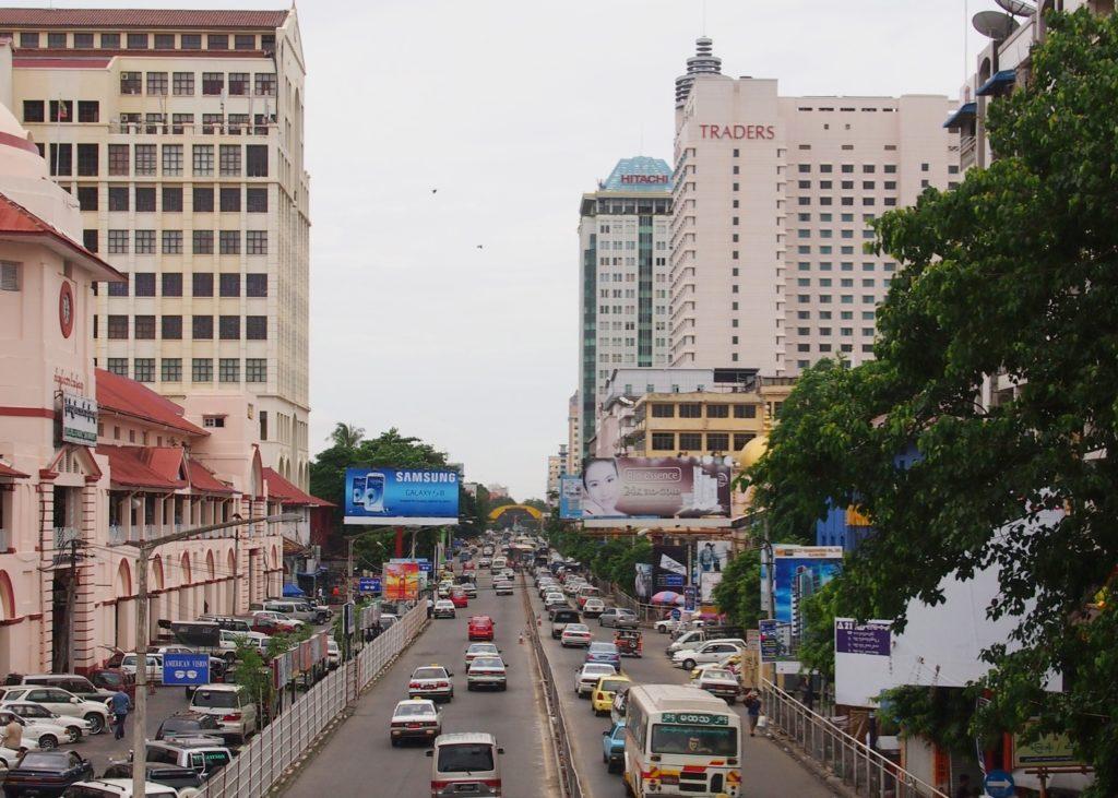 【画像】ヤンゴンの街並み