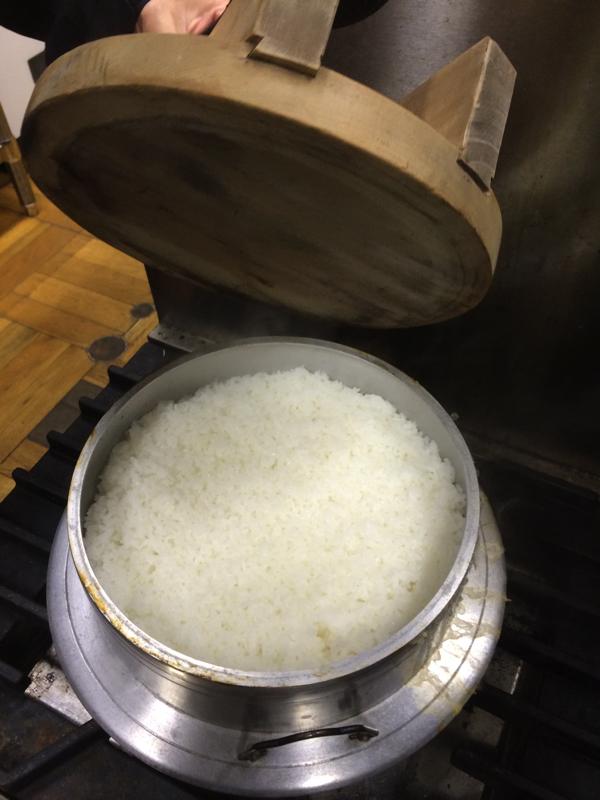 【画像】さる小 お釜で炊いたごはん