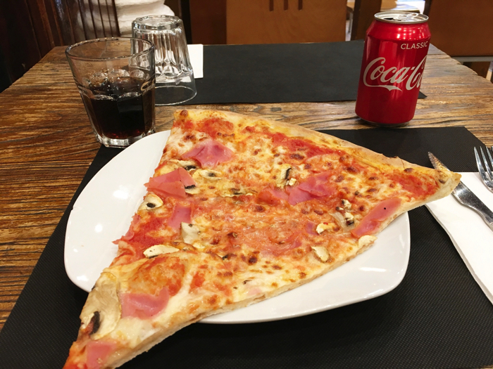 【画像】昼食のピザ