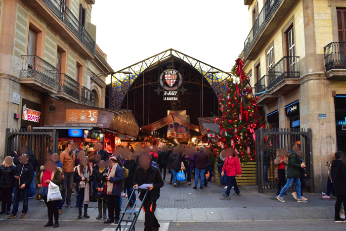 【画像】バルセロナ サン・ジュセップ市場 外観