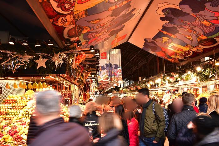 【画像】バルセロナ サン・ジュセップ市場 中の様子