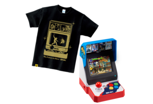 NEO GEO miniとAmazonプライムデー限定オリジナルプリントTシャツとのセット販売商品